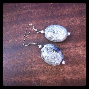 Jewelry - 💖✨Gray Porcelain Ceramic Beaded Earrings✨💖